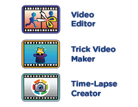 Creativity ToolsEdit videos with easy on-camera tools to trim clips and add intros or music. Cut scenes together for awesome trick effects, or join photos to create time-lapse and stop-motion videos.